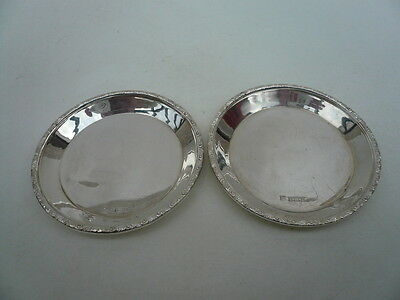 Silver Pin Dishes, Sterling, English, Vintage, Pair, Hallmarked 1960