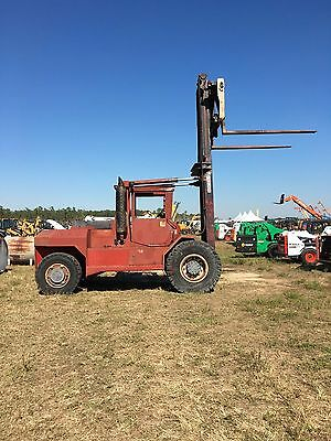 "Taylor 18000 Lb Cap Diesel Powered Pneumatic Tire Forklift 96"" Forks 12' Lift"