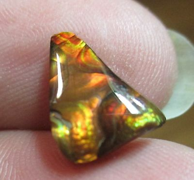 Natural Free form MEXICAN Fire Agate GEM stone  Multicolored 11x8