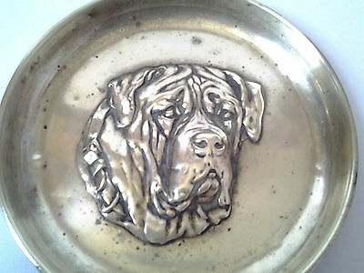 brass pin / change dish with lugubrious dog face