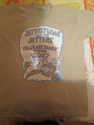 Jeffrey Lewis and The Jitters - 12 Crass Songs Tour 2007 t-shirt (Youth L)