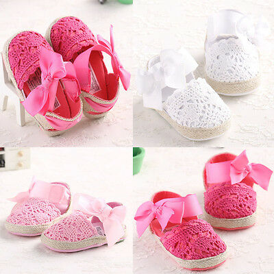 Newborn Baby Girls Summer Mary Jane Bow First Walkers Princess Kids Sandals Shoe