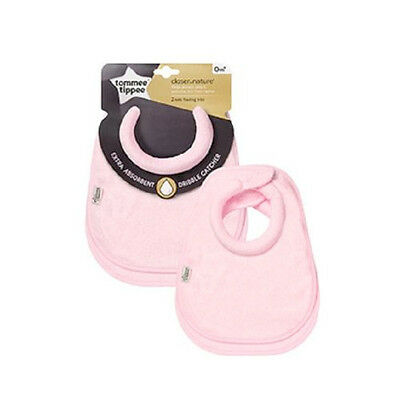 Tommee Tippee Closer to Nature - Milk Feeding Bibs 0m+ X2 - Pink