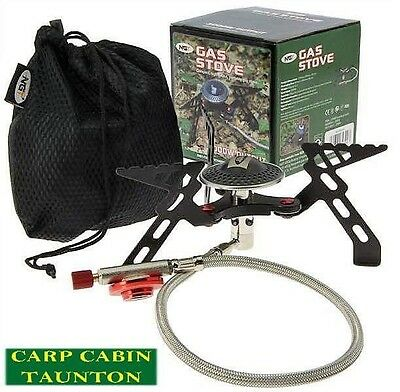 New NGT portable gas stove folds down With carry bag / carp fishing