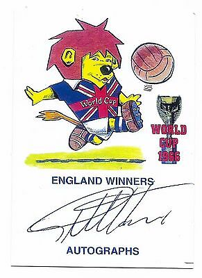 Gb 1966 World Cup Winners Autograph - Geoff Hurst - On Special Card
