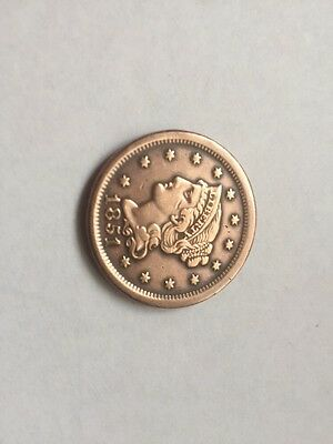 1851 USA US America One Cent Coin