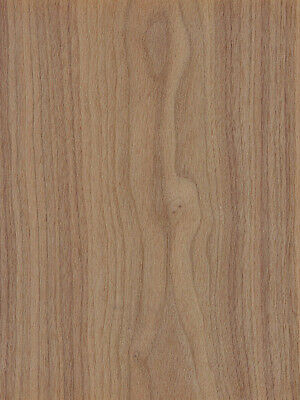 "Walnut Wood Veneer Plain Sliced Paper Backer 2' X 8' (24"" x 96"") Sheet"