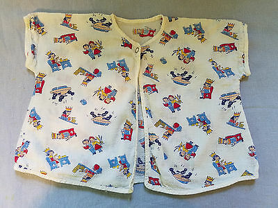 vintage children's pajama top nrsery rhyme Old King Cole blackbirds in pie