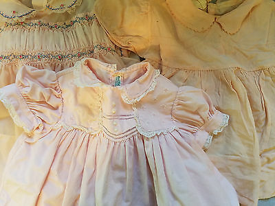 three pink vintage girl's dresses 12 month smocked Philippines