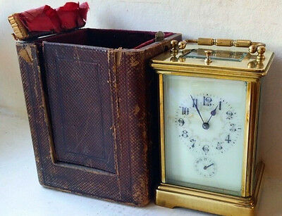Beautiful French Floral Face Striking Repeater with Travel Case Very Rare