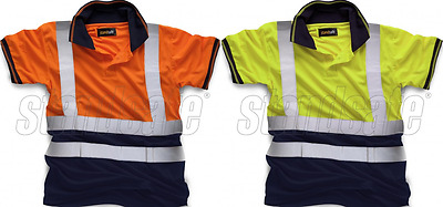 Standsafe Hi Vis Two Tone Polo Shirt Short Sleeve HV031