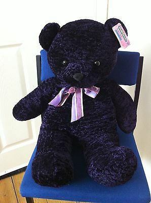 Chad Valley purple velvet bear