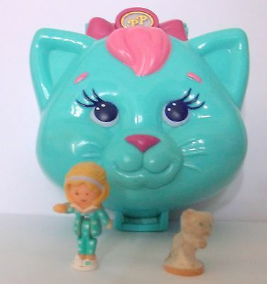 1993 Vintage Polly Pocket Compact Cuddly Kitty 100% Complete Good condition