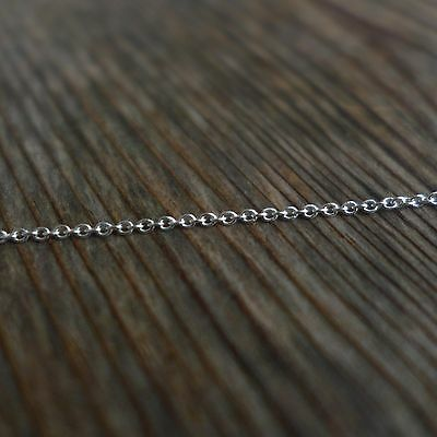 925 Solid Sterling Silver 3.3ft 0.8mm Bulk Cable Chain DIY Jewelry making Craft