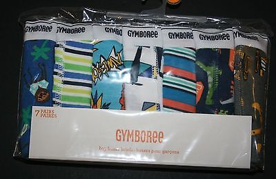 New Gymboree 7 Pk Underwear Boxer Briefs NWT Size 3 4 5 6 7 8 10 12 Raccoon Dino