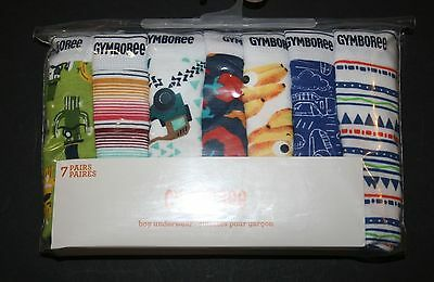 New Gymboree 7 Pk Underwear Briefs NWT Size 3 4 5 6 7 8 10 12 Banana Jeep Cactus
