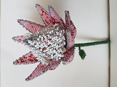 Hand Made South African Beaded Protea