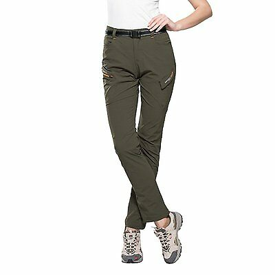 Climbing Hiking Quick Dry Pants for Women Lightweight Waterproof Army Green2 4XL