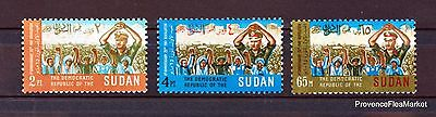 STAMPS NEW °° SUDAN REVOLUTION RARE ONLY 1721 sets Sc 228AB 88M452