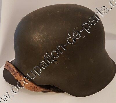 Ww2 Wk2 Casque Allemand Modele 42 Liberation  Nominatif+ Tampon