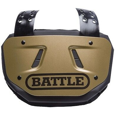 NEW Battle Adult Gold Football Back Plate - 11AC000009