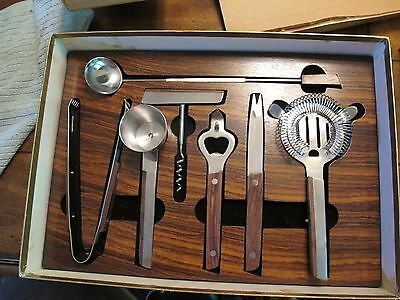 Vintage 7 pc bar set stainless steel  Made in Japan~ NOS~