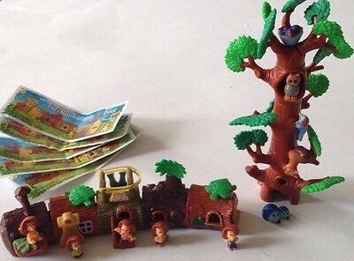 Kinder Surprise Toys Woodland Lot HEDGEHOGS WITH LOG HOUSES + TREE WITH FRIENDS