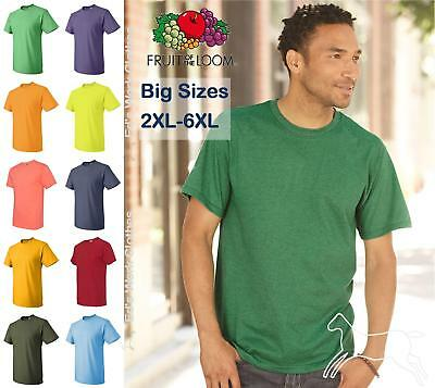 Fruit of the Loom Mens Blank Short Sleeve Heavy Cotton HD T Shirt 3930R 2XL-6XL