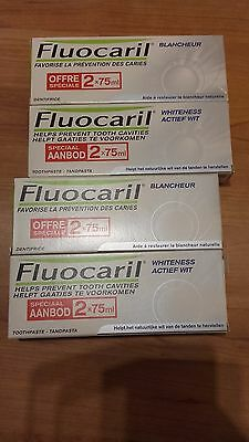Lot de 4 Fluocaril Blancheur Dentifrice 2x75ml