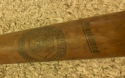 """Vintage Rawlings Wood Bat No.19 Official Softball 33"""" EARLY STAMP HEARTWOOD"""