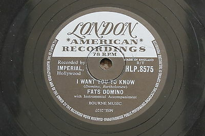 Fats Domino - The Big Beat / I Want You To Know, London Records 78Rpm