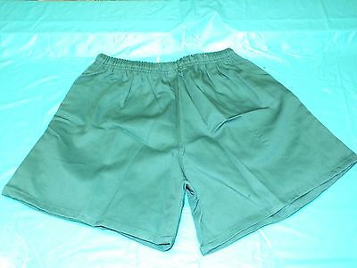 """Fine GREEN traditional Rugby player  shorts, size 40"""" new in makers bag."""