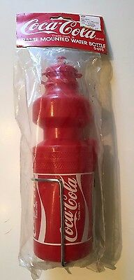 Vintage NEW Coca Cola Frame Mounted Water Bottle 1998 Collectible Red Trade-Mark