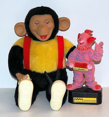 Zip Zippy The Chimp & Clarabell Vintage Figures From Howdy Doody Show