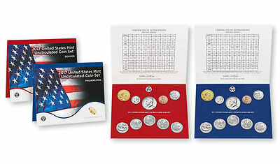 Uncirculated Coin Set U.S 2017 (20 coins) United States