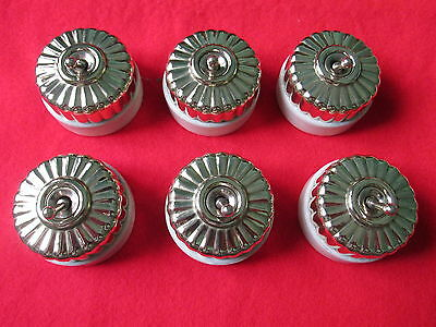 6 Vintage Jelly Mould  Light  Switches .