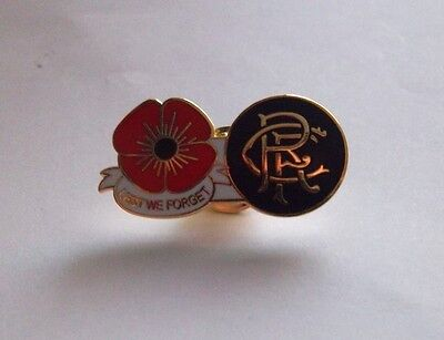 Rangers Fc Lest We Forget Badge