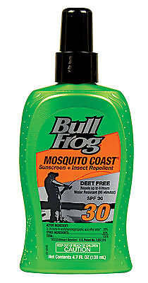 Bull Frog Mosquito Coast Sunscreen and Insect Repellent - SPF 30 Spray 4.7 fl oz