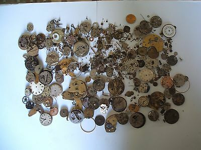 Huge 250 grams of Vintage Steampunk Cyberpunk Watch Parts Cogs Movements