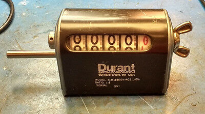 DURANT COUNTER, Model 5-H-34054-402-LCL - resettable, 4 Digit,