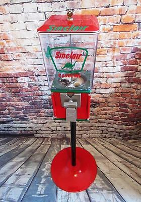 SINCLAIR GAS vintage gumball / candy machine and candy machine stand