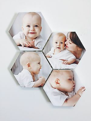 Hexagon Personalized Photo Canvas Your Pics Gallery Wrapped Canvas Ready to Hang