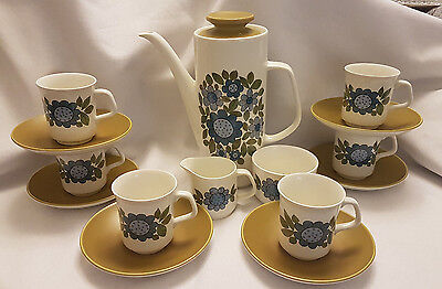 "Retro 1960's J and G Meakin ""Topic"" Coffee set - Alan Rogers (1968)"