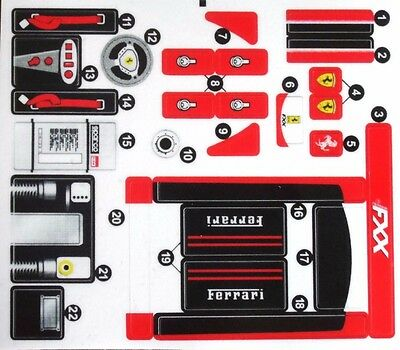 REPLACEMENT stickers Sheet  for LEGO 8156 Ferrari FXX