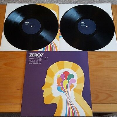 Zero 7 - When It Falls Original Double LP Album Vinyl 2004
