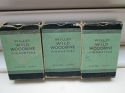4 SETS PLAYING CARDS WILLS Wild WOODBINE