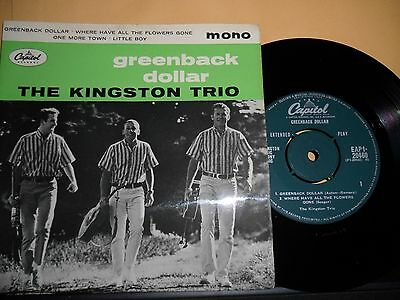 "The Kingston Trio.greenback Dollar.capitol 4 Track Ep.7"" Vinyl.45Rpm"