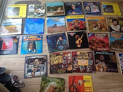 Joblot 25 x CLASSIC COUNTRY AND WESTERN Blue Grass 70s 80s VINYL LP Box Set