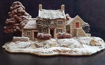 """Lilliput Lane """"First Snow at Bluebell"""", 1996, Limited Edition of 3500, Handmade"""