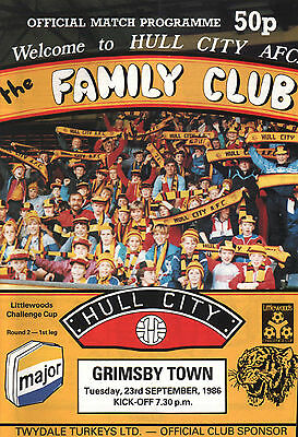 1986/87 Hull City v Grimsby Town, League Cup, PERFECT CONDITION